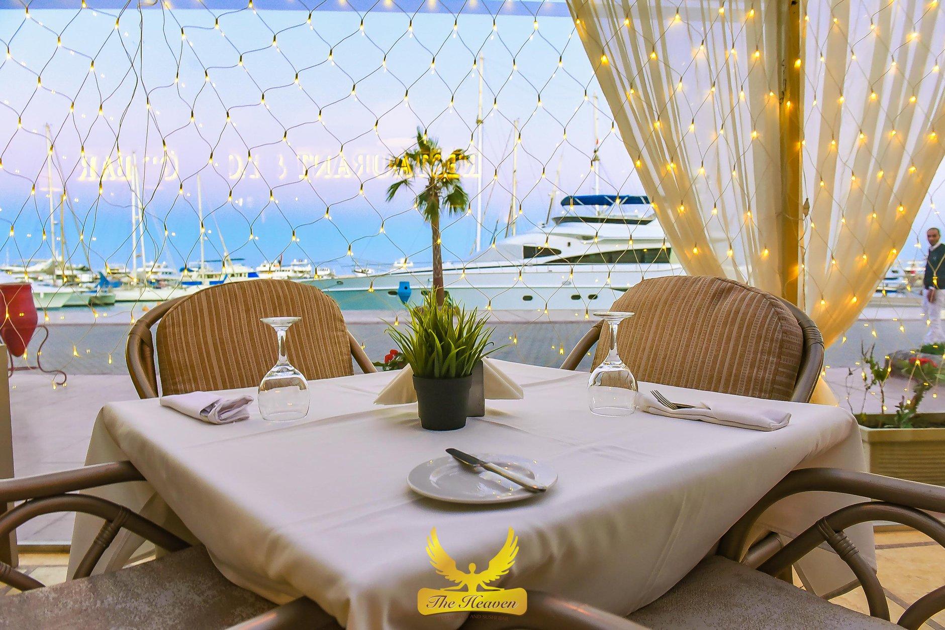 Duiken Hurghada Seagate, eten in Hurghada, The Heaven